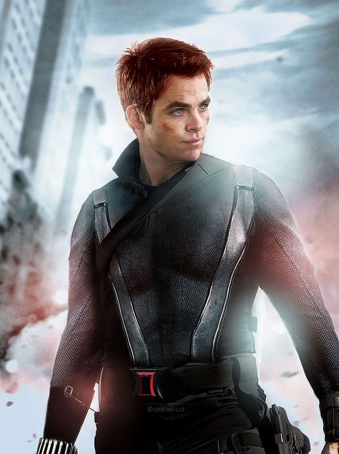 avengers, gender swap, hawkeye, loki, black widow, iron man, the hulk, dr. bruce banner, thor, captain america, gay blog, tumblr, lgbt, queer, women, superheroes, marvel. chris pine