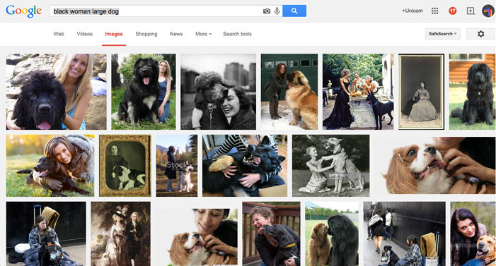google, gay blog, lgbt, queer, white, caucasian, racist, google, image search, world white web, woman dog, black woman