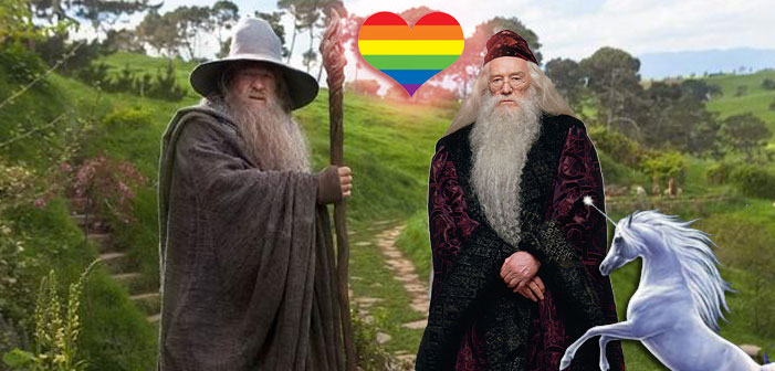 Albus Dumbledore and Gandolf gay marriage