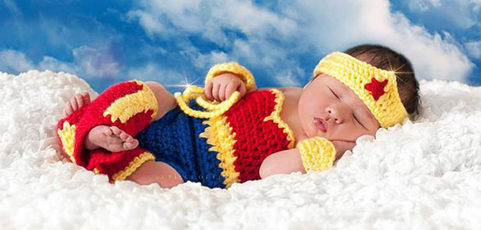 baby, superhero, comic book, famous, fantasy, photo, image, photograph, picture, cute, wonder woman