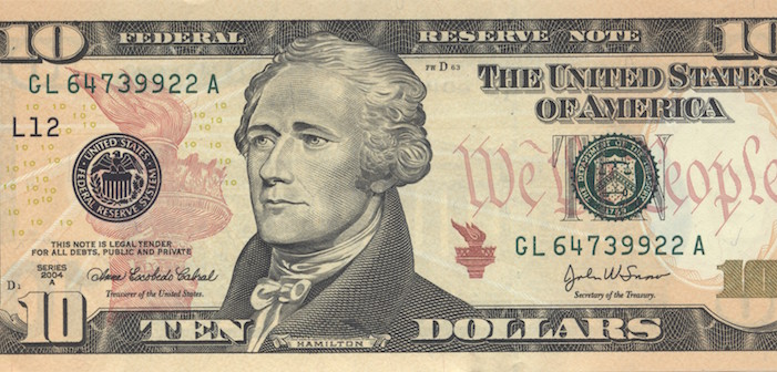 The Treasury Is Putting A Woman On The $10 Bill Next To Hamilton