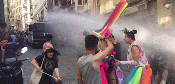 Turkish Police Use Water Cannons, Rubber Bullets On Istanbul Pride March