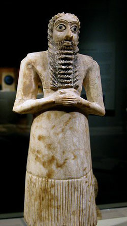 Figurine of an ancient Sumerian priest