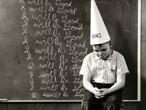 dunce cap, student, boy, school, chalkboard, in trouble, bart simpson, gay blog, queer, lgbt