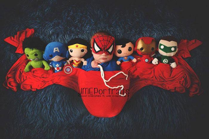 super friends, baby, superhero, comic book, famous, fantasy, photo, image, photograph, picture, cute