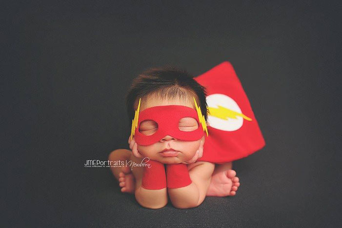 baby, superhero, comic book, famous, fantasy, photo, image, photograph, picture, cute, the flash
