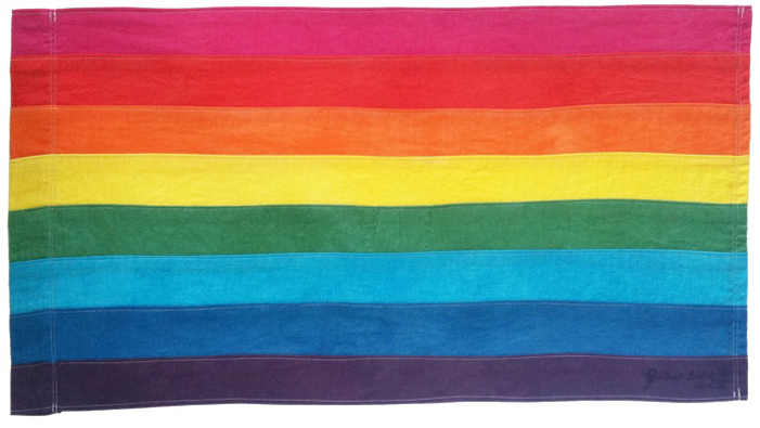 rainbow flag history, rainbow flag, history, original rainbow flag, gay pride flag, gay flag, LGBT flag, LGBT symbol, Gilbert Baker