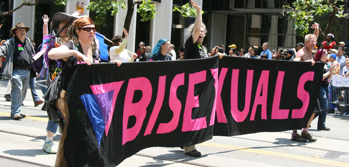 bisexual, protest, sign, bi, bisexuality