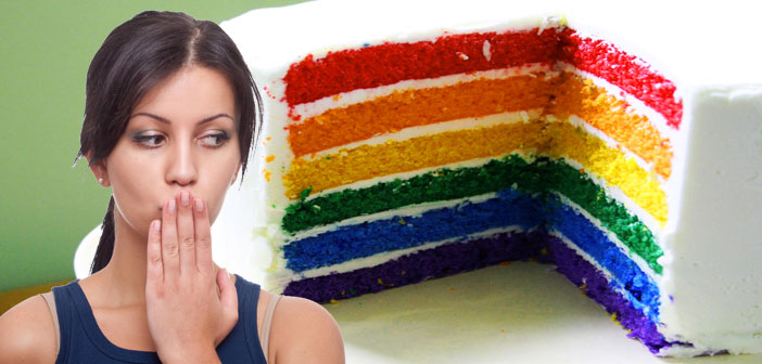cake, rainbow, oops, whoops, marriage, equality, slice
