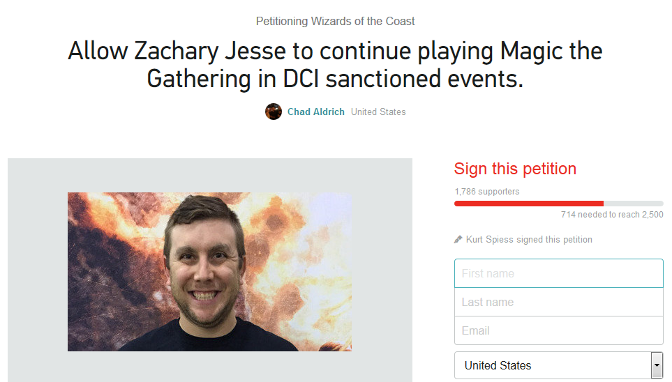 zach jesse petition