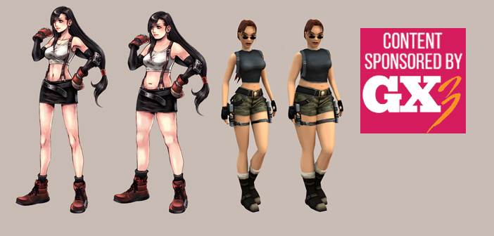 female video game characters drawn as real women