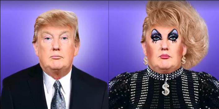 donald trump, drag queen, saint hoax