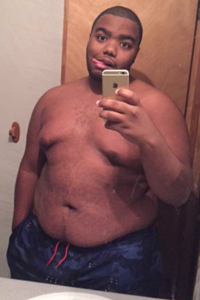 Fats Waggin, chubby, man of color, shirtless, sexy