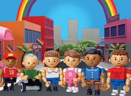 rick and steve, evan amd chuck, kristen and dana, gay couples, cartoons