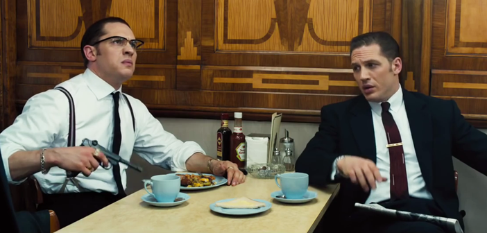 Tom Hardy and Tom Hardy in Legend