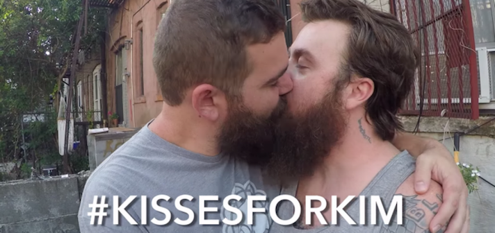 PICS: Take That, Kim Davis: Everyone's Gay Kissing In #KissesForKim