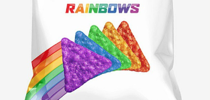 rainbow doritos, facebook, lgbt, gay