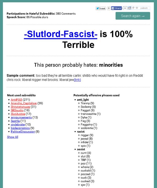 reddit check slutlord fascist