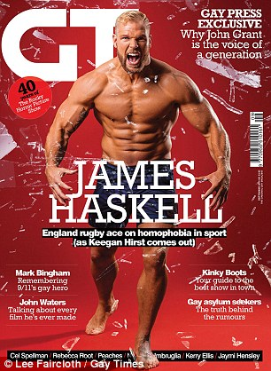 James Haskell, Rugby, Gay Times Mag