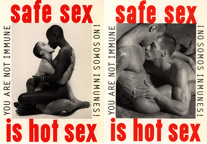 Safe sex is hot sex, poster, HIV, AIDS, ad, advertisement