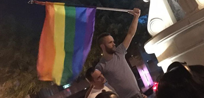 Dallas, activists, gay, rainbow flag, violence