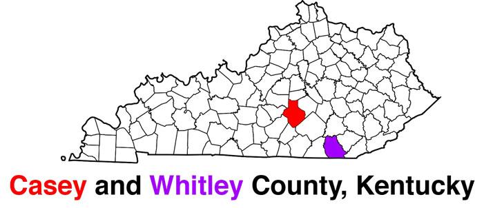 Casey County, Whitley County, Kentucky