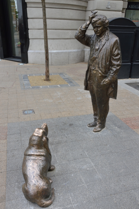 A statue of Columbo in Hungary.