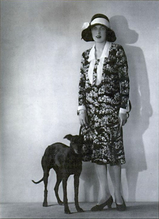 Caresse with her dog Clytoris (Wikimedia Commons)