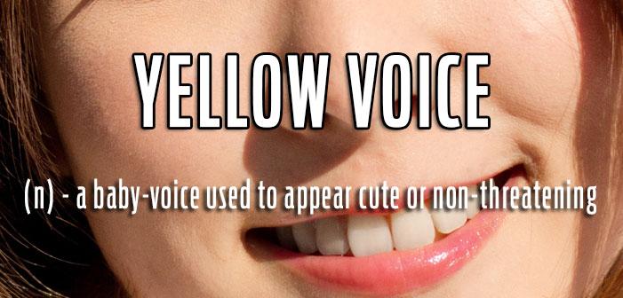 queer slang, term gay, yellow voice