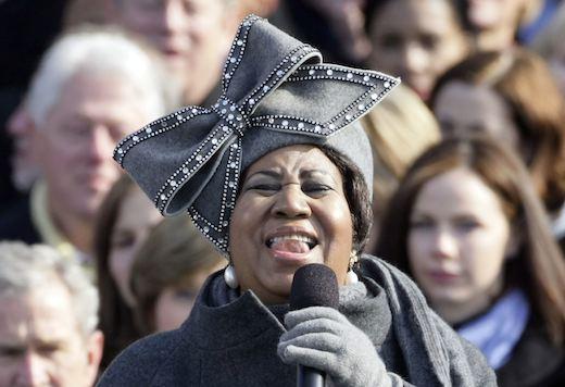 aretha franklin, hat, inauguration, obama