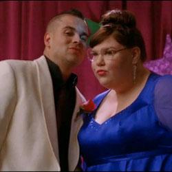 Mark Salling, Ashley Fink, Lauren, Puck, Glee, TV, romance