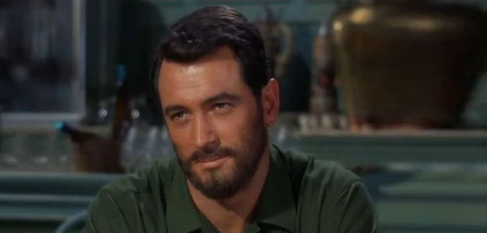 Rock Hudson, movie star, gay, hollywood, AIDS, handsome, sexy, bearded