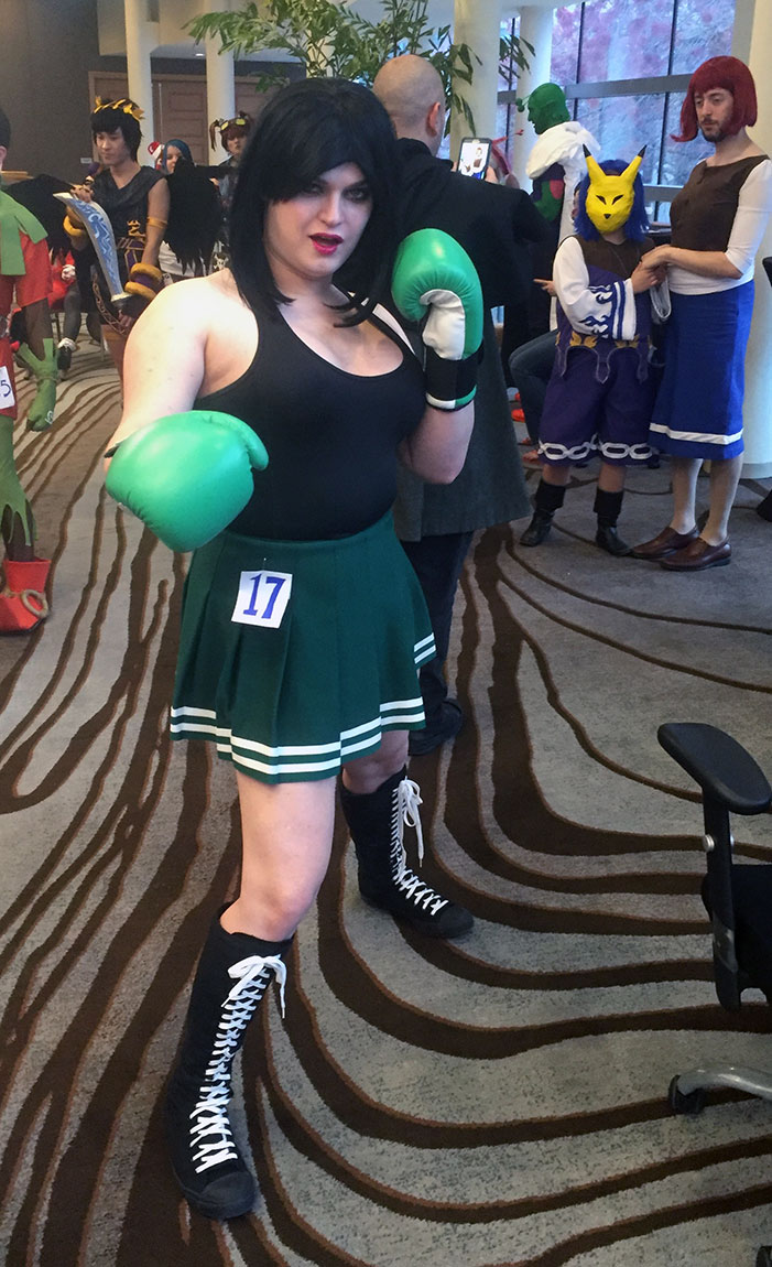 GaymerX, cosplay, video games, geek, costume, Punch Out, Little Joe