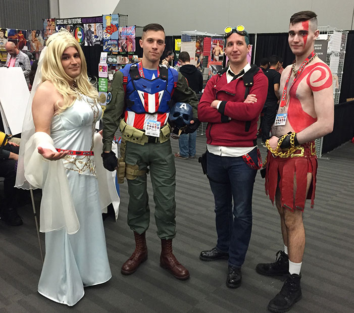 GaymerX, cosplay, video games, geek, costume, captain america, God of War, princess