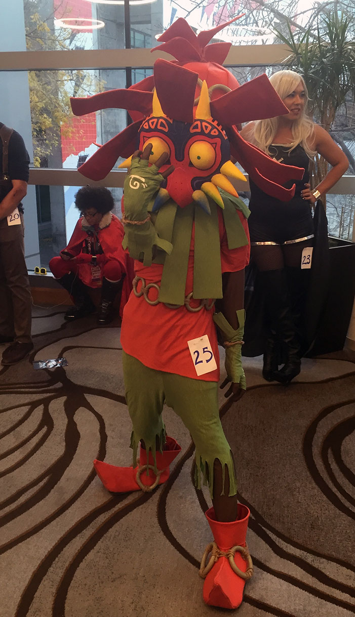 GaymerX, cosplay, video games, geek, costume, Majora's Mask, Deku, Nintendo, Legend of Zelda