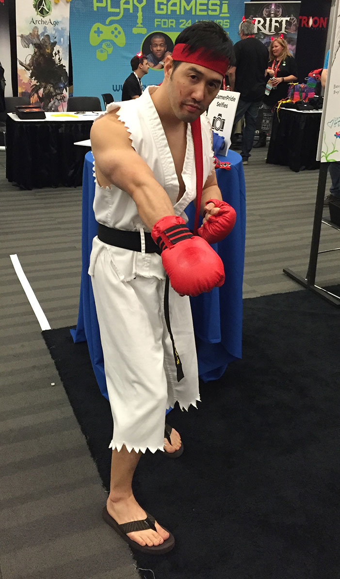 GaymerX, cosplay, video games, geek, costume, Ryu, Street Fighter