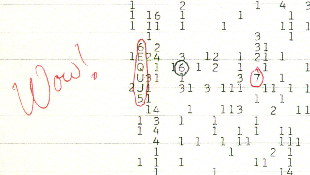 wow signal, jerry ehman, alien life, seti, extraterrestrial