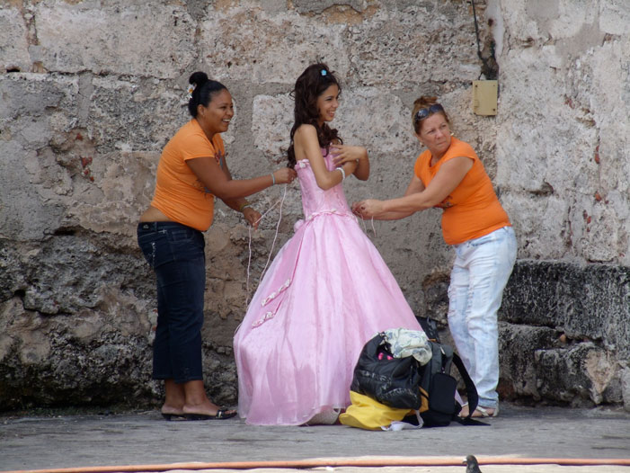 Havana, Cuba, young girl, dress, bride, women