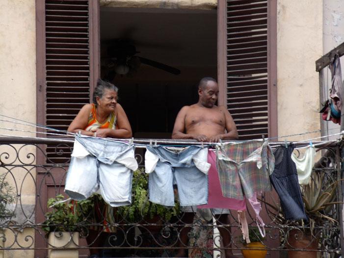 Cuba, Havana, balcony, building, picture, street