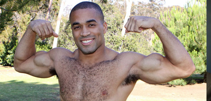 black, African American, porn, performer, Sean Cody, flex, hairy, sexy, muscles, smile