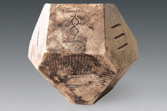 14 sided ancient Chinese board game die