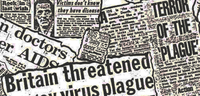 AIDS, HIV, newspaper, headlines