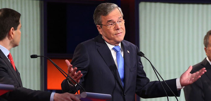 Jeb Bush, Republican, debate, GOP, January 28