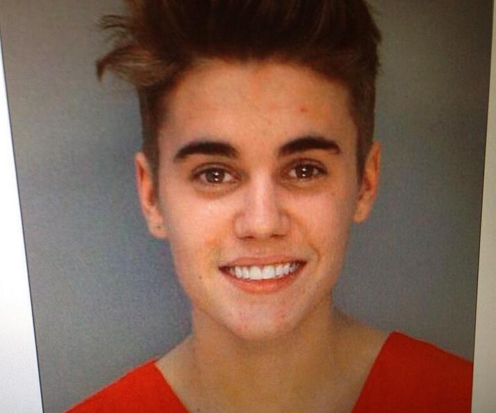 Justin Bieber death mugshot