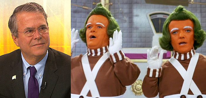 Jeb Bush, Oompa Loomp, Charlie and the Chocolate Factory, Willy Wonka, GOP, Republican
