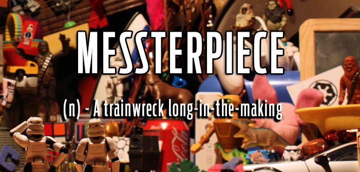 Messterpiece, A long-in-the-making work that is a total trainwreck, queer slang, lgbt, neologisms, funny slang, humor, words, terms