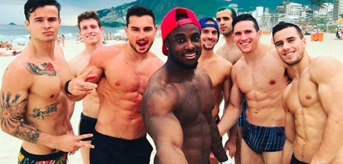 Olympic, gymnasts, U.S., American, sexy, shirtless, hot, Paul Ruggeri, Steve Legendre, Brandon Wynn, Donnell Whittenburg, Sam Mikulak, Danell Leyva, Alex Naddour, Jake Dalton,