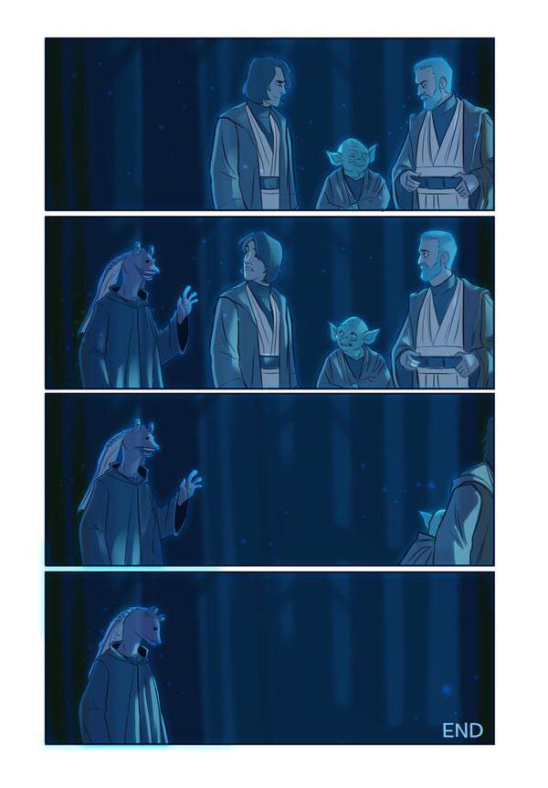 Star Wars, The Force Awakens, sequel, comic, Jar Jar, Obi Wan, Anakin Skywalker, Yoda