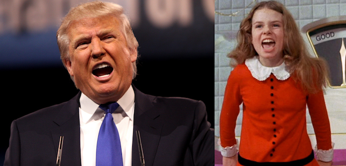 Willy Wonka and the Chocolate Factory, Charlie, film, comedy, GOP, Republican, presidential, candidate, Donald Trump, Veruca Salt