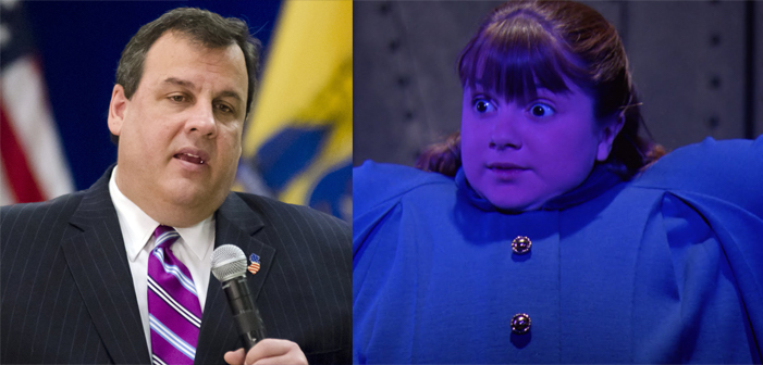 Willy Wonka and the Chocolate Factory, Charlie, film, comedy, GOP, Republican, presidential, candidate, Violet Beauregarde, Chris Christie